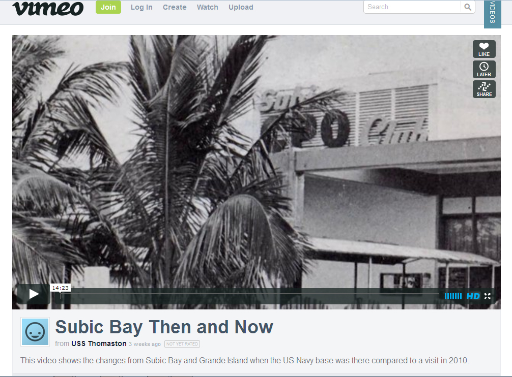 Subic Bay Then and Now